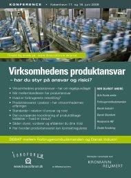 Virksomhedens produktansvar - IBC Euroforum
