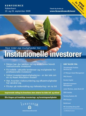 Institutionelle investorer - IBC Euroforum