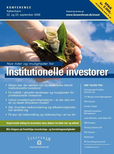 Institutionelle investorer - IBC Euroforum