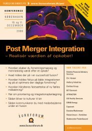 Post Merger Integration - IBC Euroforum