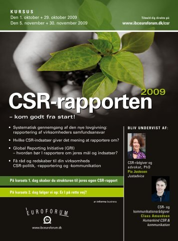 CSR-rapporten - IBC Euroforum