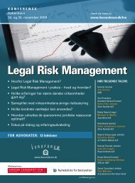 Legal Risk Management - IBC Euroforum