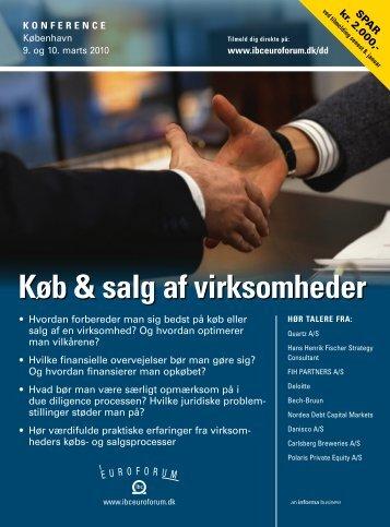 Køb & salg af virksomheder - IBC Euroforum