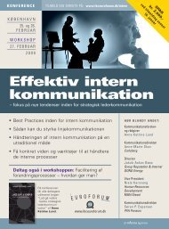 Effektiv intern kommunikation - IBC Euroforum