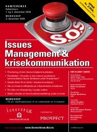 Issues Management & krisekommunikation - IBC Euroforum