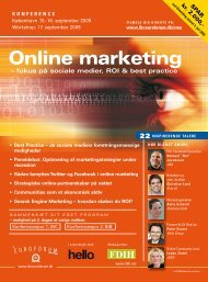 Online marketing - IBC Euroforum