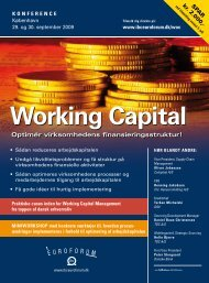 Working Capital - IBC Euroforum