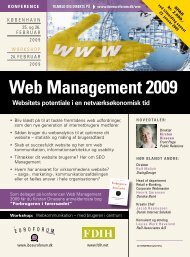 Web management 2009 - IBC Euroforum