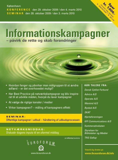 Informationskampagner - IBC Euroforum