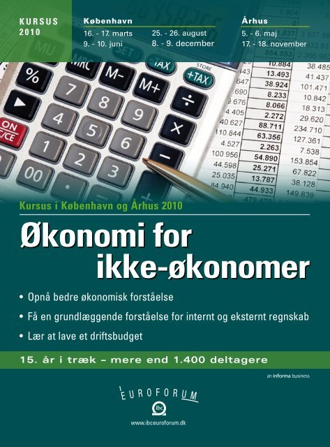 Økonomi for ikke-økonomer - IBC Euroforum