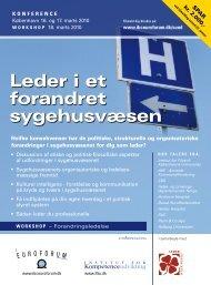 Leder i et forandret sygehusvæsen - IBC Euroforum