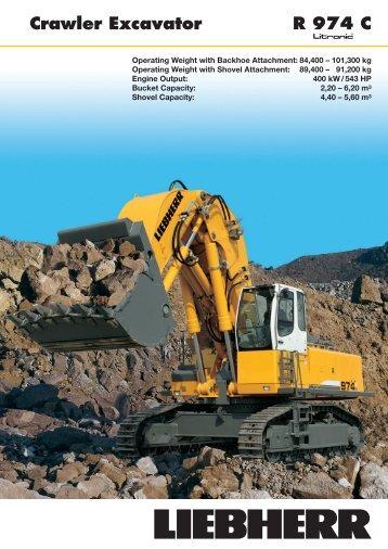 R974C Crawler Excavator - Coastline Equipment