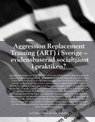 Aggression Replacement Training (ART) i Sverige ... - Socialstyrelsen