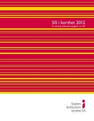 SiS i korthet 2012 - Statens Institutionsstyrelse
