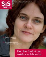 SiS i Fokus nr 4/09 (pdf 1,84 MB, nytt fönster) - Statens ...