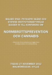 Normbrottsprevention och cannabis - Statens Institutionsstyrelse