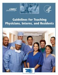 CMS Guidelines for Teaching Physicians, Interns and Residents