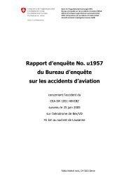 Rapport d'enquête No. u1957 du Bureau d'enquête sur les ...