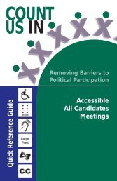 Count Us In - Removing Barriers to political Participation - Ministry of ...