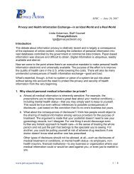Privacy and Health Information Exchange - Mendocino HRE
