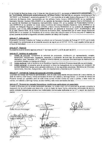 En la Ciudad de Buenos Aires, a los 14 dias del mes de ... - Laboralis