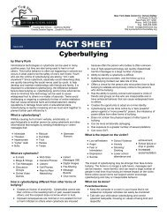 Fact Sheet on Cyberbullying - New York State Center ... - HFM BOCES