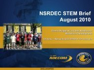 STEM Brief - NSSC Science & Technology Board - U.S. Army