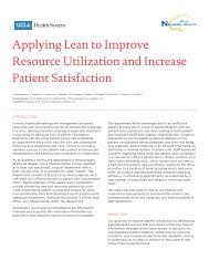 Applying Lean to Improve Resource Utilization and Increase Patient ...