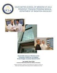 david geffen school of medicine at ucla residency training program ...