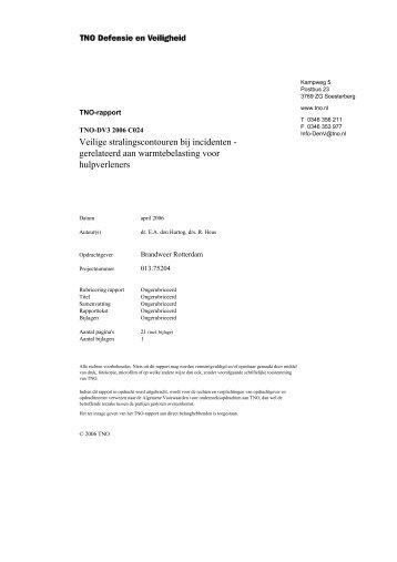 Veilige stralingscontouren bij incidenten - gerelateerd aan ...