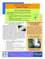 School Nurses - Southwest Center for Pediatric Environmental Health