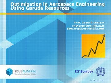Optimization in Aerospace Engineering Using Garuda Resources