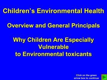 Module # 1 - Southwest Center for Pediatric Environmental Health