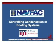 Controlling Condensation in Roofing Systems - National Roofing ...