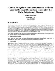 Critical Analysis of the Computational Methods used to Discover ...