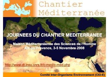 ChMed_Aix_3-5_11_2008 - MISTRALS - CNRS