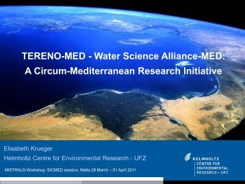 TERENO-MED - Water Science Alliance-MED: A ... - MISTRALS