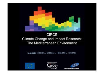 CIRCE Climate Change and Impact Research: The ... - MISTRALS