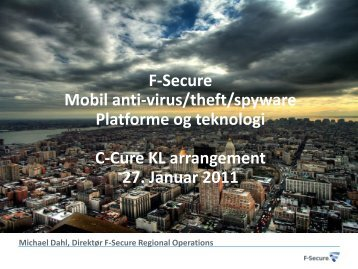 Michael Dahl/F-Secure - C-cure