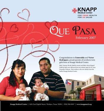 February 2007 - Knapp Medical Center