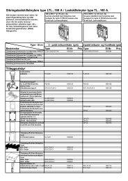 Sikringslastskillebrytere type LTL...160 A / Lastskillebryter ... - Moeller