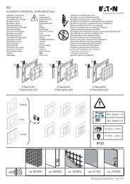doble - og 4-felts trykknapper CTAA-0X/03 - Moeller