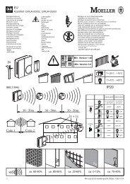 Xcomfort CRCA-00/02, CRCA-00/03 ca. 60-90% ca. 80-95 ... - Moeller