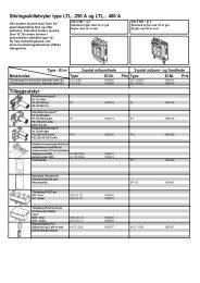 Sikringsskillebryter type LTL...250 A og LTL... 400 A ... - Moeller