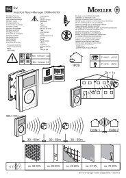 Xcomfort Room-Manager CRMA-00/XX 868,3 MHz ca. 60 ... - Moeller