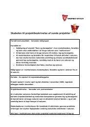 Skabelon til projektbeskrivelse af sunde projekter - sundhed ...