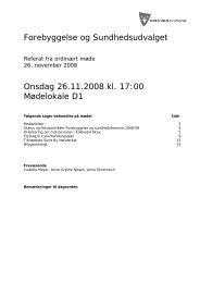 26. november 2008 - Beslutninger - sundhed.horsholm.dk