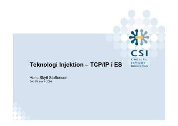 Teknologi Injektion – TCP/IP i ES - SummIT06
