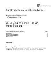 Forebyggelse og Sundhedsudvalget Onsdag 24.09.2008 kl. 16:00 ...