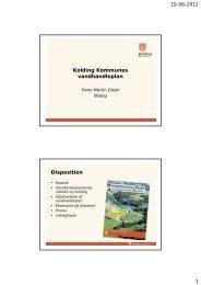 Præsentation af vandhandleplanen